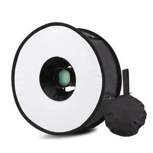 Image 5 - Ring Softbox Speedlite Softbox Flitslicht Stand 45Cm Opvouwbare Diffuser Ring Speedlight Soft Box Voor Canon Nikon Speedlight