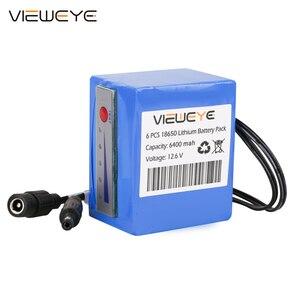 Image 2 - ViewEye pack de batterie Lithium 12V professionnel, avec indicateur 4500mAh/6400mAh pour détecteur de poisson, caméra vidéo de pêche sous marine