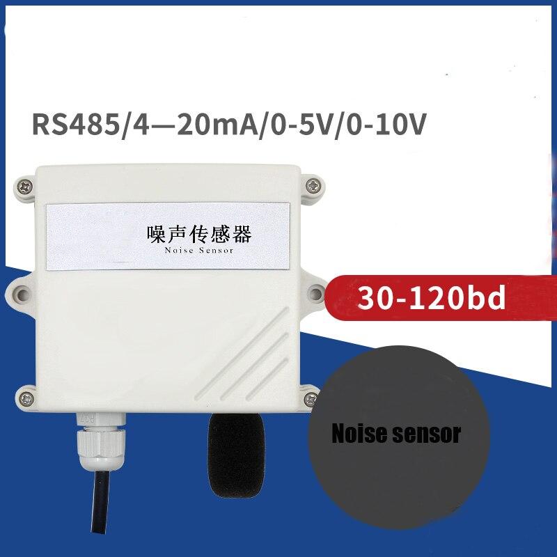 Industrial grade noise sensor transmitter Rs485 4-20MA 30-120DB RTU waterproof Noise sound sensor High precision