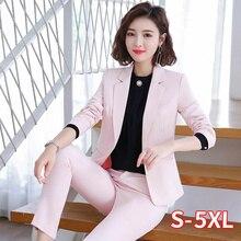 Women Suit Business Lady Uniform Office Work Pant Suits Fema