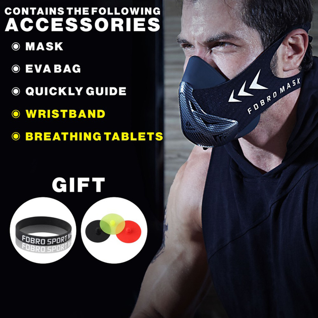 Training Mask Fitness Gym Cycling Elevation Altitude Conditioning Sports Masks