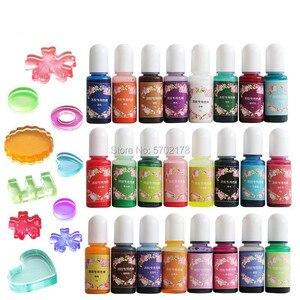 15 цветов, эпоксидная смола, пигмент, спиртовые чернила, жидкий цвет, муравьиная краска, диффузионная смола, изготовление ювелирных изделий