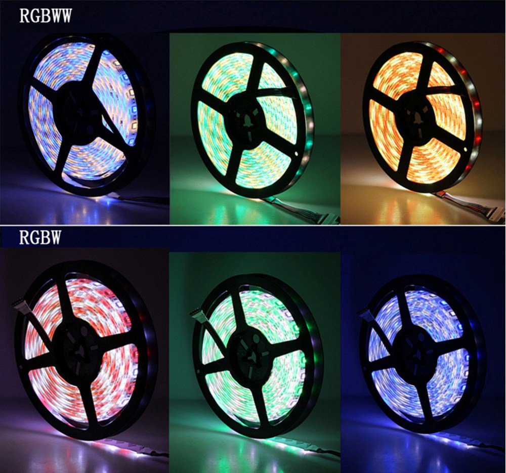 Hd975fe32cbc447e2913c1c793df1aa43R Led Strip 5050 RGB Lights DC12V Flexible Home Decoration Lighting Waterproof Led Tape RGB/White/Warm White/Blue/Green/Red