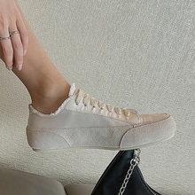 platform shoes women natural genuine leather+satin flat casual shoes real leather lace up white sneakers ladies flats fall shoes genuine leather ladies flats sneakers shoe women casual loafers shoes female hollow moccasins white lace up canvas boat shoes