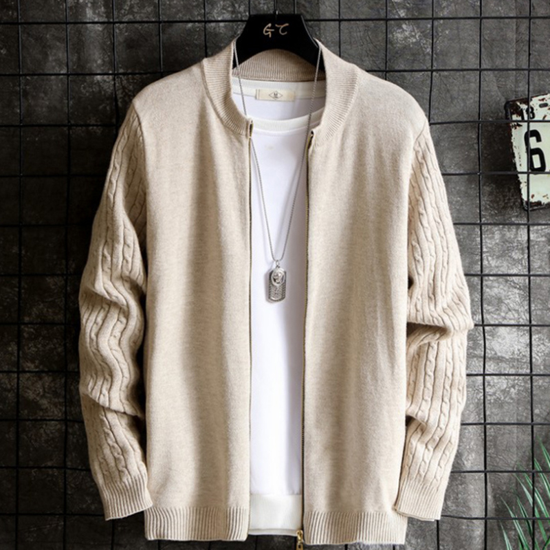 2020 Casual Cardigan Knitwear Men Solid Shawl Sweater Men Fashion Thin Coats Pull homme Long Sleeve Sweaters Jackets Tops 3XL