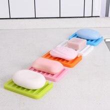 1 шт силиконовый мыльница ящик для хранения тарелок мыла лоток