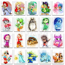 5D Diamond painting sale cat  Cartoon animal girl dog Full Square embroidery Cross stitch Round mosaic gift