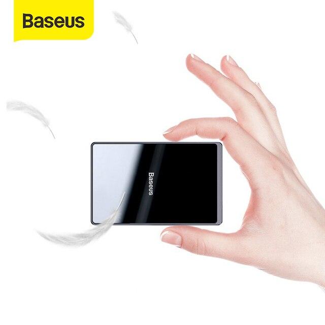 Baseus 15W Qi מטען אלחוטי נייד אולטרה דק אלחוטי טעינת Pad עבור iPhone 11 פרו X XS XR 8 סמסונג S10 S9 Xiaomi mi 9