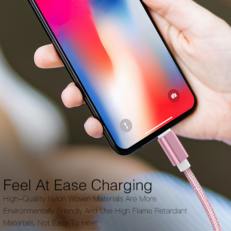 Image 5 - For iPhone 6s 6 s 7 8 Plus Xs Max XR X 10 5s iPad Fast Charging V8 Long Wire Cord Nylon 25cm 1m 2m 3m Data USB Charger Cable