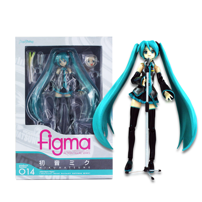 15cm Movable Anime Action Figure Hatsune Miku Figma 014 Model Doll Figurine PVC Action Figure Model Toys