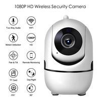 HD 1080P Copertura WiFi Wireless Baby Monitor di Visione Notturna di IR IP Della Macchina Fotografica Auto-track Casa di Sorveglianza di Sicurezza Mini CCTV Network Cam