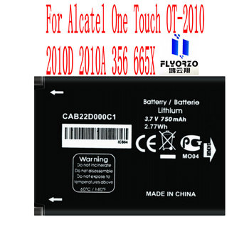 High Quality 750mAh CAB22D0000C1 Battery For Alcatel One Touch OT-2010 2010D 2010A 356 665X Mobile Phone image