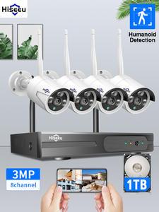 Video-Surveillance-Kit Nvr Wifi Cctv-Camera Security-System 3mp Ai IP Outdoor Hiseeu 8ch