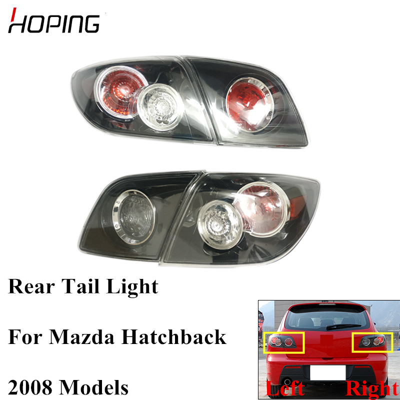 Hoping Auto Inner Outer Rear Tail Light Tail Lamp For MAZDA 3 M3 Hatchback 1.6L 2008