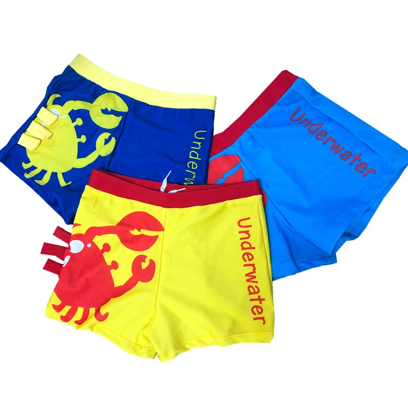 New Style KID'S Swimwear BOY'S Cartoon Crab Swimming Trunks Small CHILDREN'S Baby Sweat-wicking Swimming Trunks
