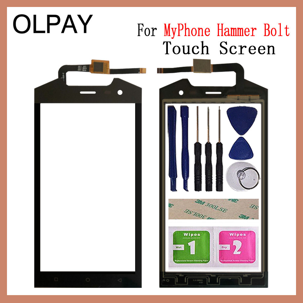 Mobile Phone Touch Screen Digitizer 5.0'' Inch For MyPhone Hammer Bolt Touch Glass Sensor Tools Free Adhesive And Wipes