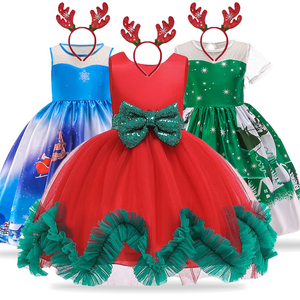 New Christmas Dress For Girls Costume Kids Dresses For Girls Princess Dress Children Evening Party Dress 3 4 5 6 7 8 9 10 Year(China)