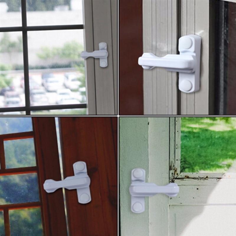 New T-Type Window Safety Locks Zinc Alloy UPVC Door Lock Sash Jammer Home Security Restrictor Candado