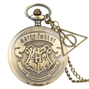 Pendant-Chain Montres Pocket-Watch Necklace Gifts-Accessory Hogwarts Bronze Retro Women
