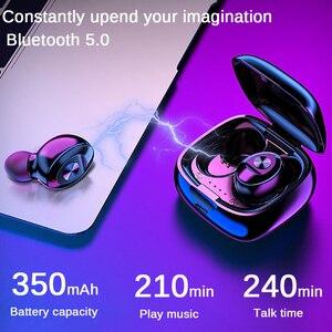Image 2 - Fone de ouvido xg12 bluetooth 5.0 tws, estéreo, wireless, hifi, fones de ouvido esportivos, mãos livres, gamer, headset com microfone para celular