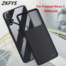 ZKFYS Power Case For Huawei Nova 5 High Quality Ultra Thin Fast Battery Charger Case 7000mAh External Power Bank Charging Cover