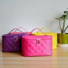 DJLJLZWE Fashion Lady Travel Makeup Storage Bag Foldable Portable Large Capacity Solid Color Home storag