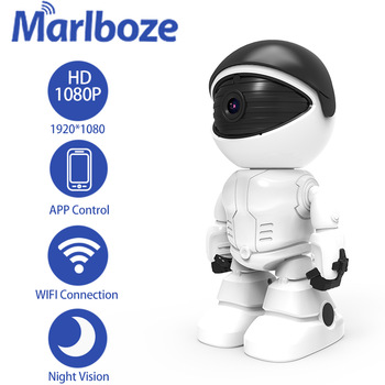 Marlboze 1080P robota WIFI kamera Ip niania elektroniczna Baby Monitor kamery internetowej pilot aplikacji sterowania inteligentny wideo z domu kamery monitoringu CCTV kamery tanie i dobre opinie Windows 7 Windows 8 Windows 10 1080 p (full hd) 3 6mm Kamera kopułkowa CN (pochodzenie) Normalne Boczne WHITE CMOS Sony