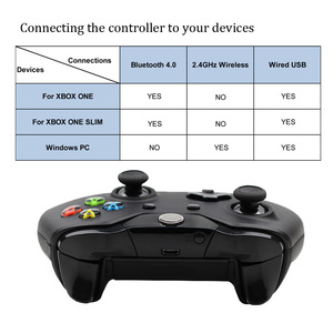 Image 2 - For Xbox one Bluetooth Wireless Controller For Xbox One Slim Console For Windows PC Black/White Joystick