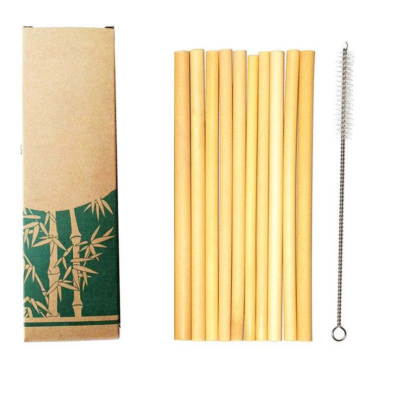 Reusable Organic Natural Bamboo Drinking Straws For Party Birthday Kitchen Bar