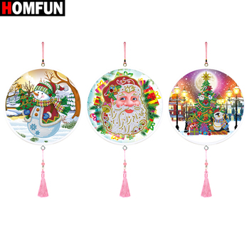 HOMFUN Christmas Diamond Painting 5d Cartoon Special Shaped Embroidery With Frame Art Kits Decorations Home Gift - discount item  37% OFF Arts,Crafts & Sewing