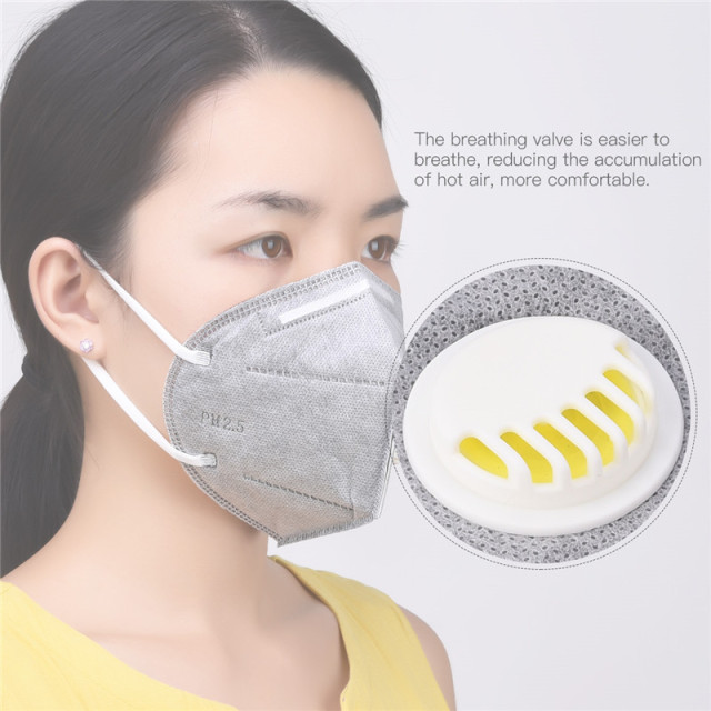 10pcs/set 3d respirator mask folding filter breathing anti-smog anti-dust anti-odor windproof ear-hook medical protection masks