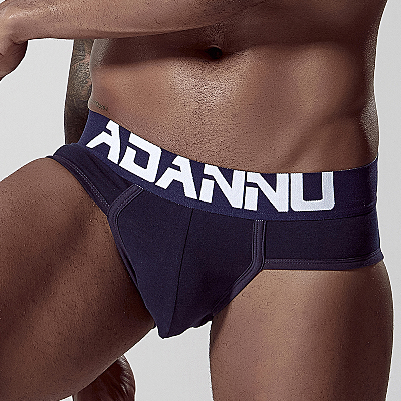 Sexy Gay Men Underwear Cotton Underpants Men Briefs Jockstrap Briefs Man Gay Mens Cuecas Under Wear Men's String AD127