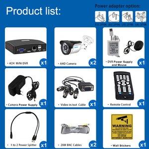 Image 2 - Smor 4CH 1080N 5 w 1 zestaw AHD DVR System CCTV 2 sztuk 720P/1080P IR kamera AHD zewnątrz wodoodporny dzień i kamera do monitoringu nocnego zestaw