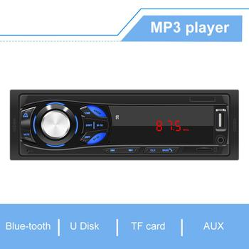 Bluetooth Autoradio 12V Car Stereo Radio FM Aux-IN Input Receiver SD USB In-dash 1 din Car MP3 Multimedia Player image