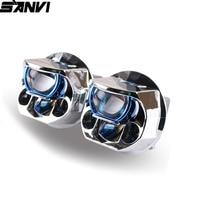 Sanvi new 2.5inch 5500k 70w Auto Bi Led&Laser Lens Headlight Car styling Ice Lamp car Light accessories car light retrofit