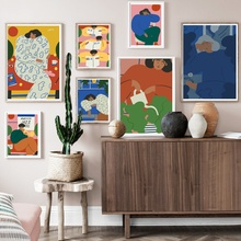 Abstract Figure Matisse Wall Art Canvas Painting Nordic Posters And Prints Vintage Pictures For Living Room Decor