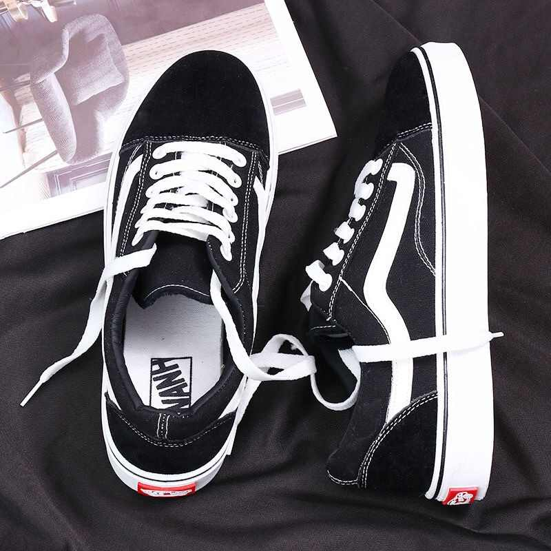 Classic Black And White Canvas Shoes Men Classic Style Casual Korean-style Students COUPLE'S Versatile Shoes Fashion
