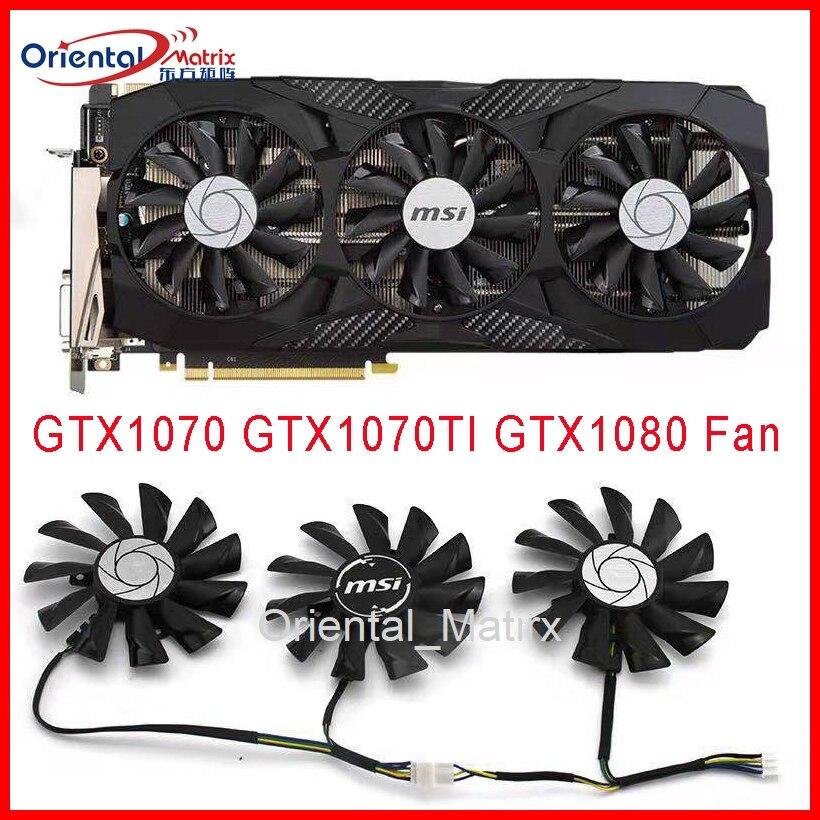 Frete Grátis PLD09210S12HH DC12V 0.40A 85 milímetros Fã VGA 4Pin Para MSI GTX1070 GTX1080 GTX1070TI DUQUE 8G Placa Gráfica ventilador de refrigeração