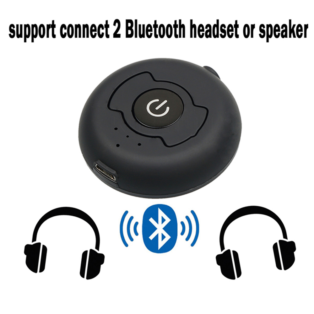 Multipoint Connection Portable Bluetooth 5.0 RCA Aux 3.5mm Stereo Audio TV Transmitter Wireless Music Adapter For Two Headphones