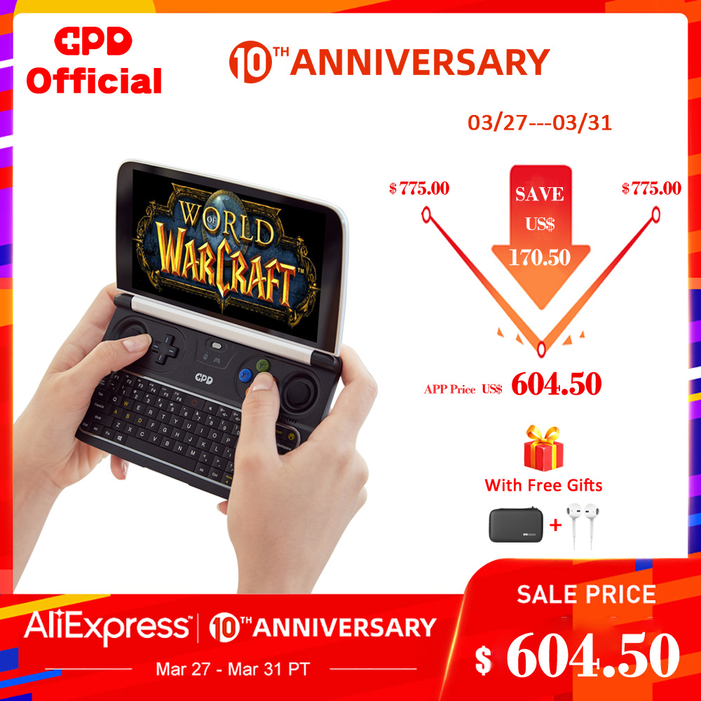 GPD WIN2 WIN 2 Windows <font><b>10</b></font> Gaming Laptop Mini Portable Computer Notebook Intel Core M3-8100Y 8+256GB 6 <font><b>Inch</b></font> IPS Touch Screen New image