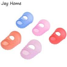 5 шт силиконовый наперсток для пальца Защитная крышка стежка