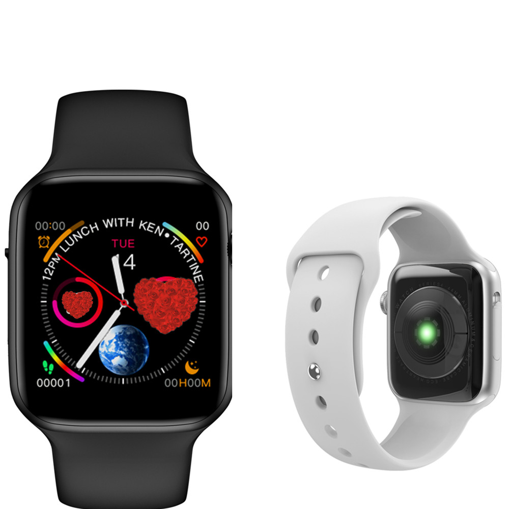 W34 smart watch ECG Monitor De Freqüência Cardíaca Do smart watch es homens mulheres SmartWatch para iphone huawei pk IWO 8 IWO 9 B57 faixa de Relógio inteligente
