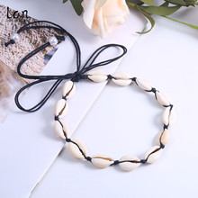 Lancharmed Handmade Plated Seashell Jewelry Necklaces Shell Necklace Fashion choker for women hot jewelry shell short necklace 2018 trendy fashion peach pink shell flower necklace for women jewelry hot