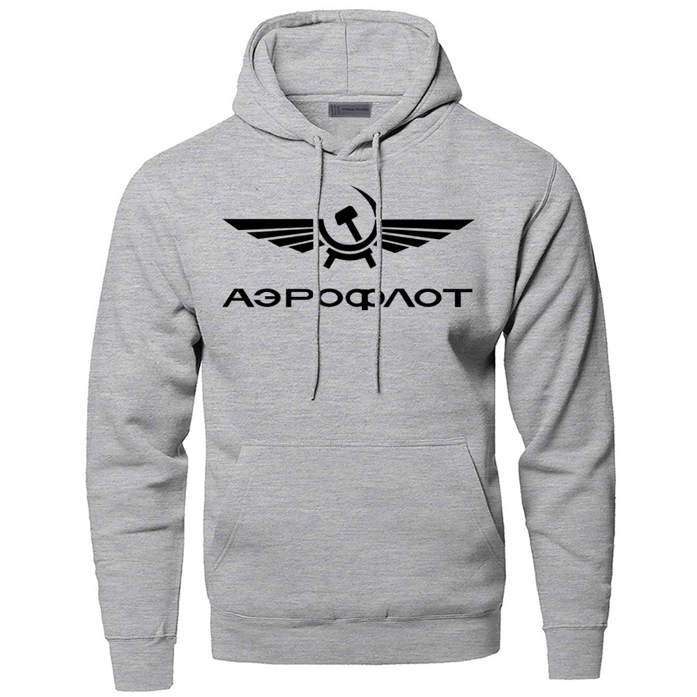 Hoodies Aeroflot CCCP Civil Aviation USSR RUSSIA AIRFORCE Sweatshirts Men Hooded Sweatshirt Hoodie Autumn Fleece Warm Sportswear