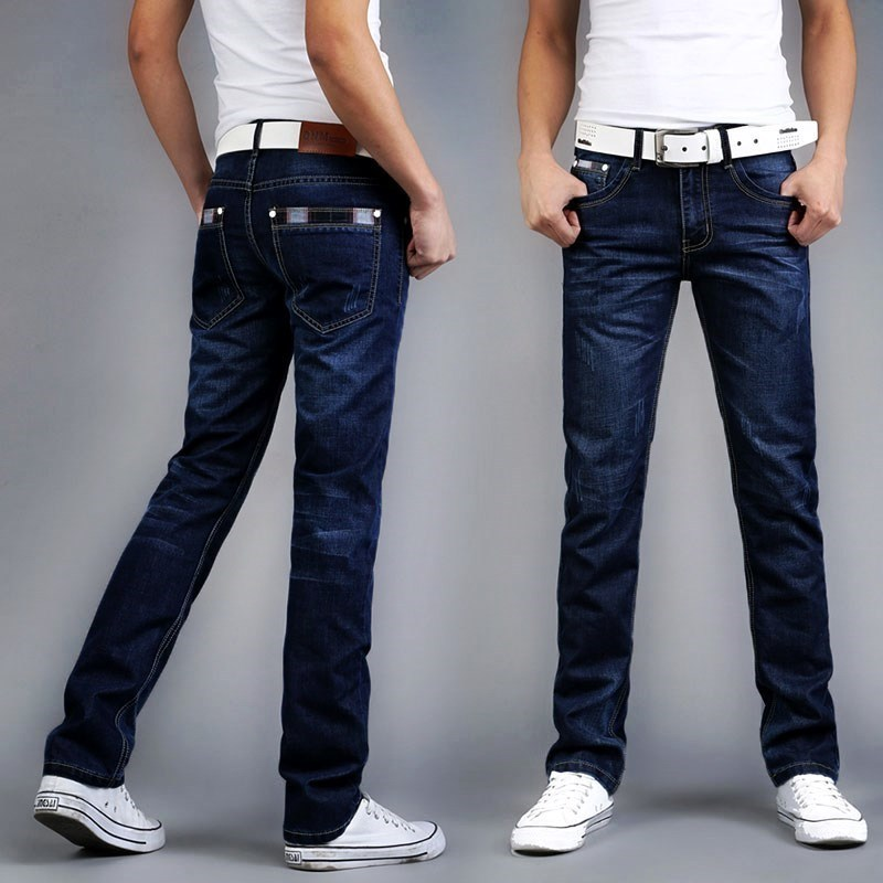 20 New Style Summer MEN'S Jeans Men's Loose Straight Thin Casual Long Pants Middle-aged Simple Men's Pants.