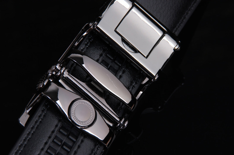 PU Leather Mens Belts Automatic Buckle Fashion Belts For Men Business Popular Male Brand Black Belts Luxury