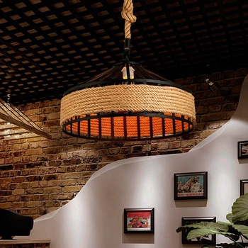 E27 Hennep Touw Opknoping Lamp Vintage 4
