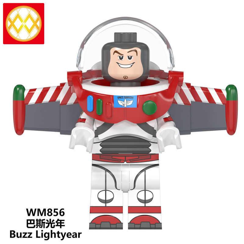 Single WM6077 Buzz Lightyear Alien Woody Ducky Gizmo Stripe Stay Puft Unicorn Cartoon Building Blocks Christmas Toys For Kids