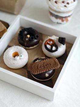 Deser licznik dekoracja okienna symulacja pączki czekoladowe glazury pączki śliczne rekwizyty fotograficzne tanie i dobre opinie CN (pochodzenie) Z żywicy 1 pc Ciasto