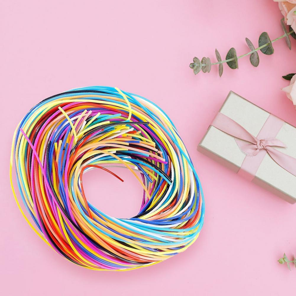 96Pcs/Bag Braided Rope DIY Flexible PVC Multicolor Lacing Cord for Handcraft